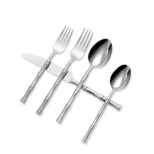 Flatware Set Hampton Stainless Steel Silverware Utensils Cut