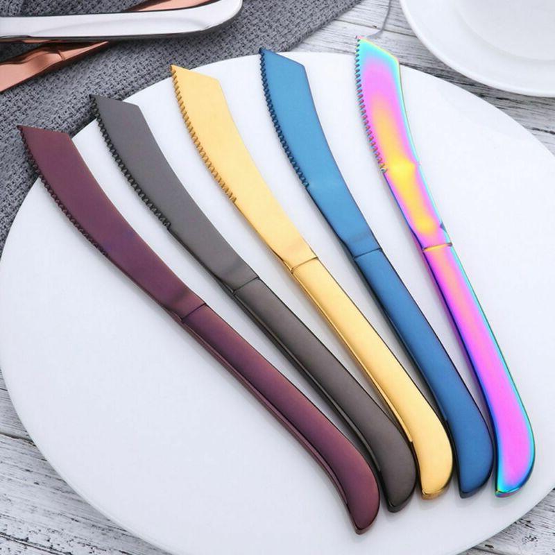 flatware table multi color sharp cutlery steak