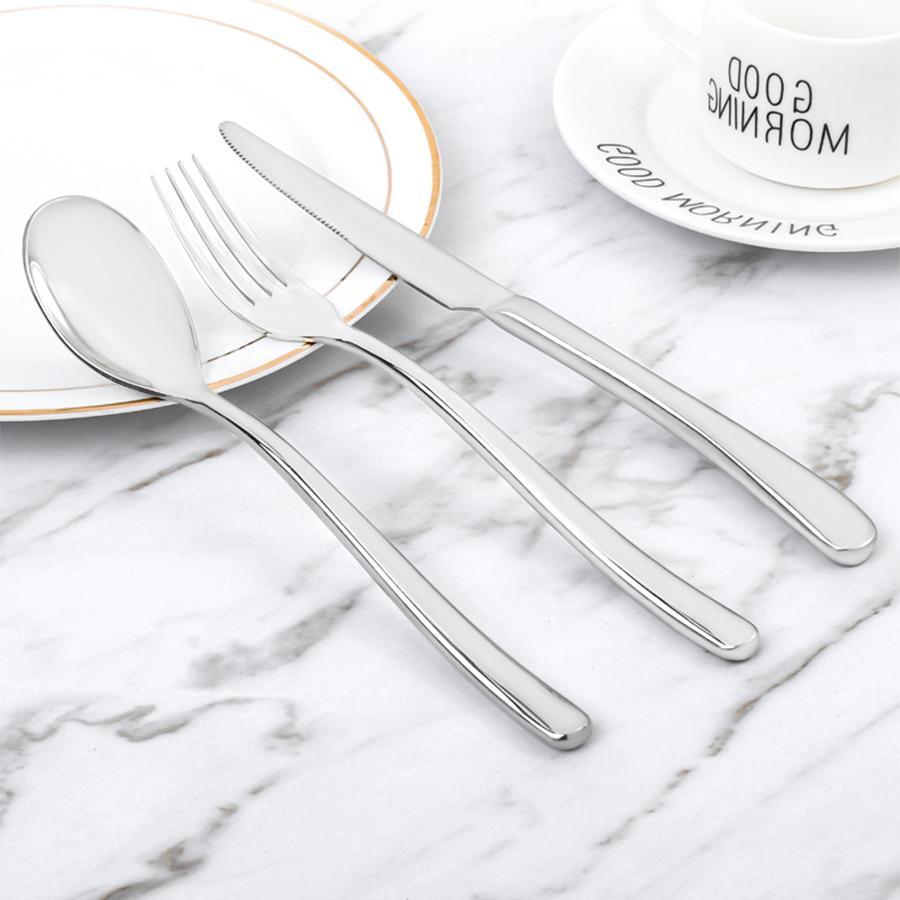 <font><b>18/10</b></font> Steel Stainless Western Tableware Set Spoon Knife Spoon Knife Cutlery
