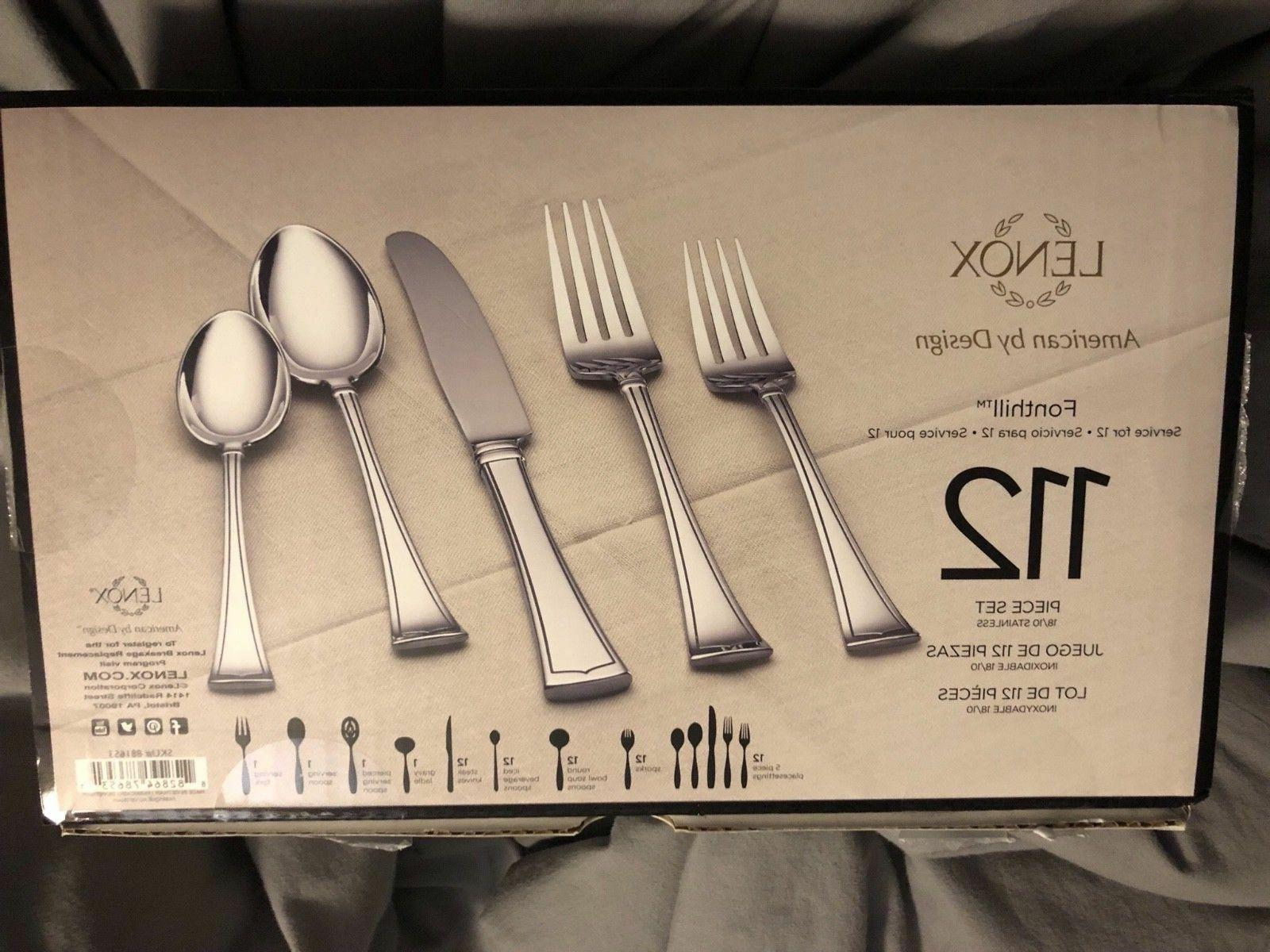Lenox Flatware Set Service 12 18/10 Tapered NEW