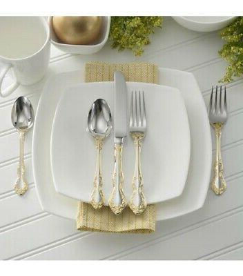 Oneida Golden Mandolina 45-Piece Flatware Set, Service for 8
