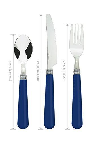 Bon Halter Steel Set - Blue, Include Knife/Fork/Spoon, Service for