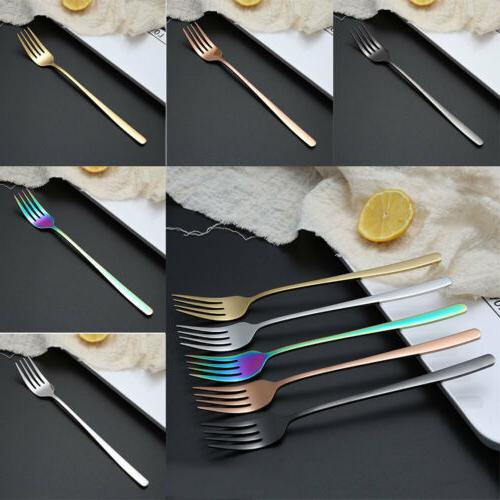 Kitchen Stainless Steel Flatware Dining Handle Dinner US