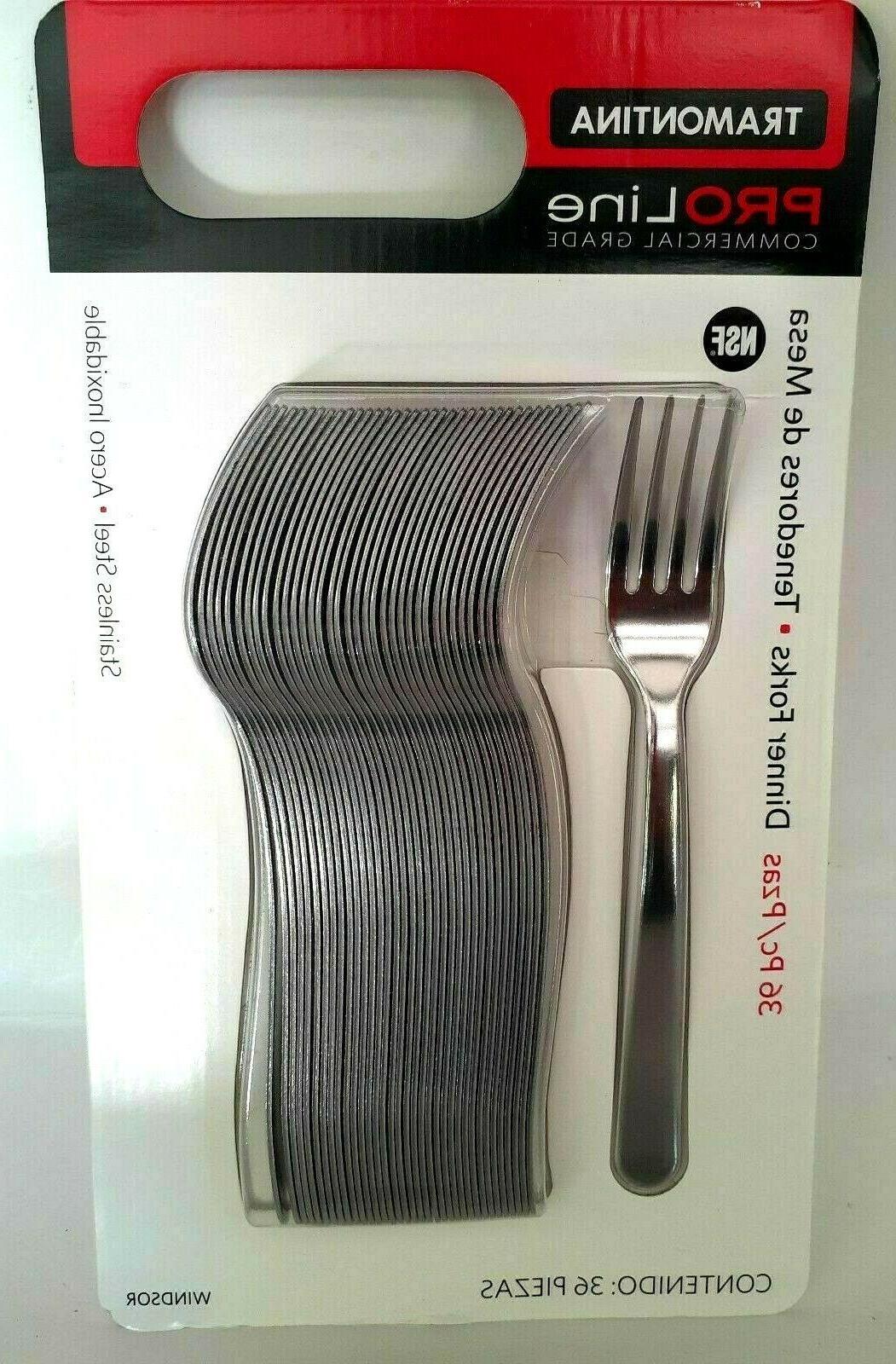 Tramontina Pro Line 36 Dinner Forks Commercial Grade Stainle