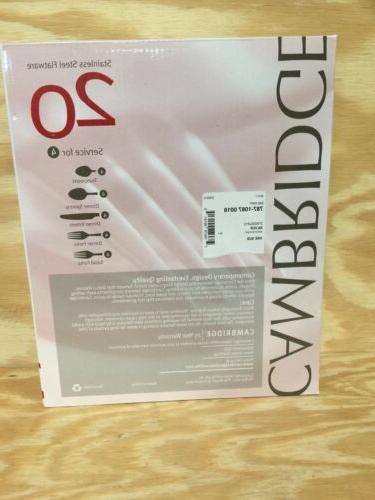 Cambridge Frost Flatware Set, Service 4