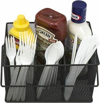 Utensil Silverware, Holder, Condiment Organizer Multi-Purpose