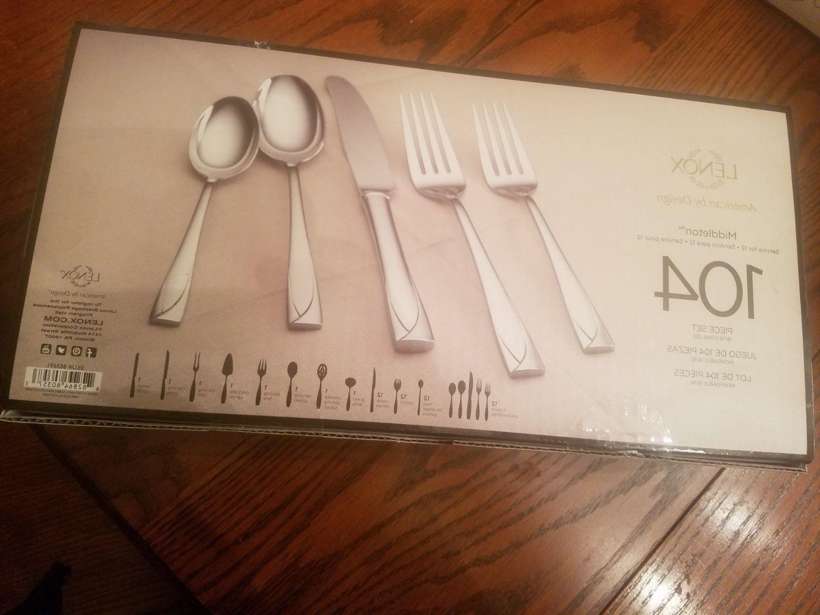 middleton 104 piece stainless steel service