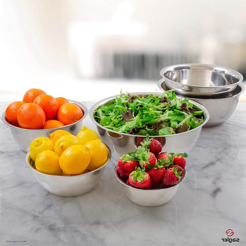 Mixing Bowl Stainless Steel Wash Basin Dinner Casserole Metal Tray