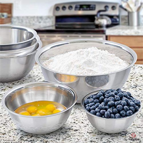 mixing bowls mixing bowl stainless steel mixing - Polished Mirror kitchen bowls ¾, 2, 6, 8 Quart - Ideal For Cooking clean