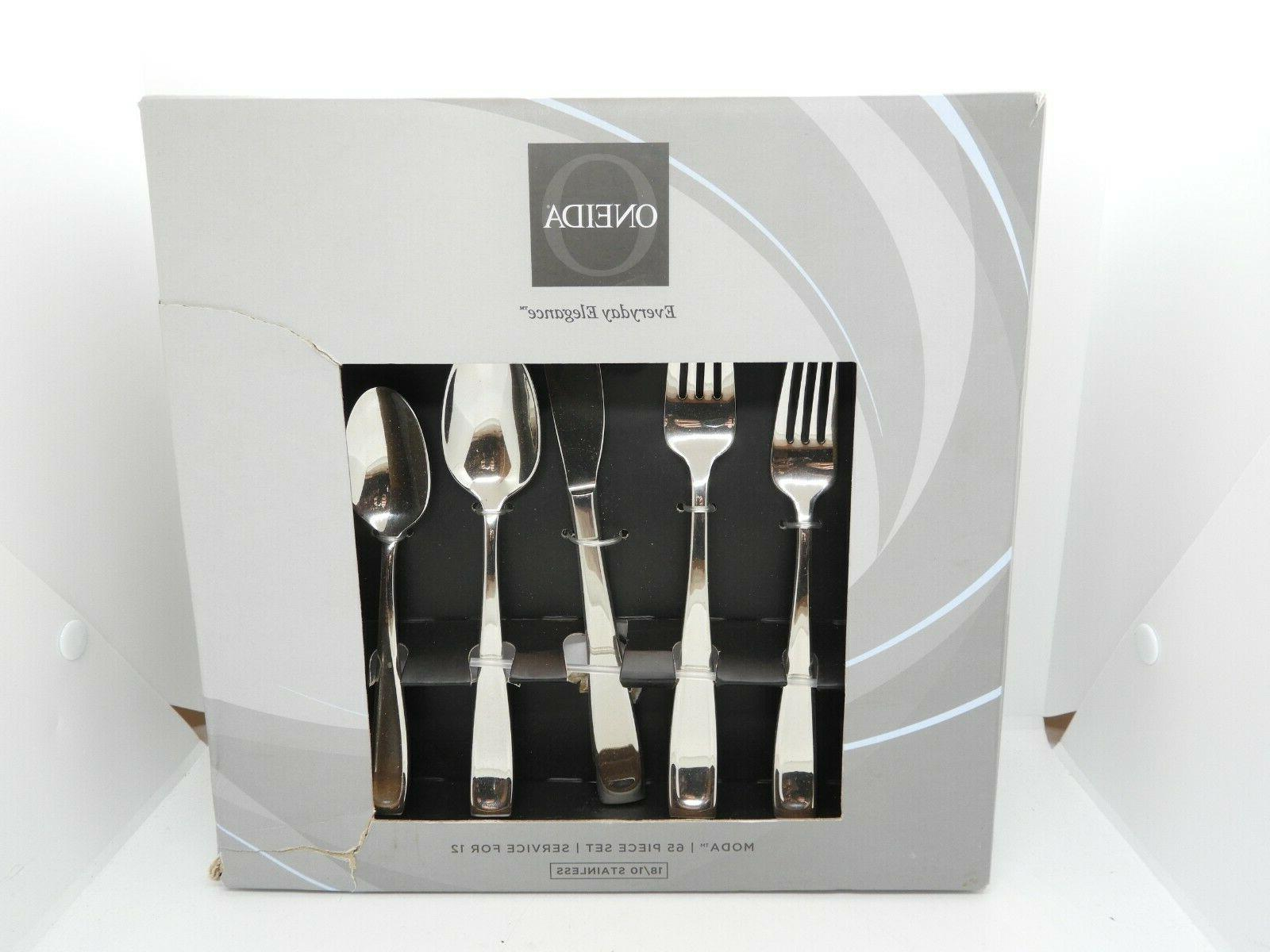 moda 65pc service for 12 flatware set