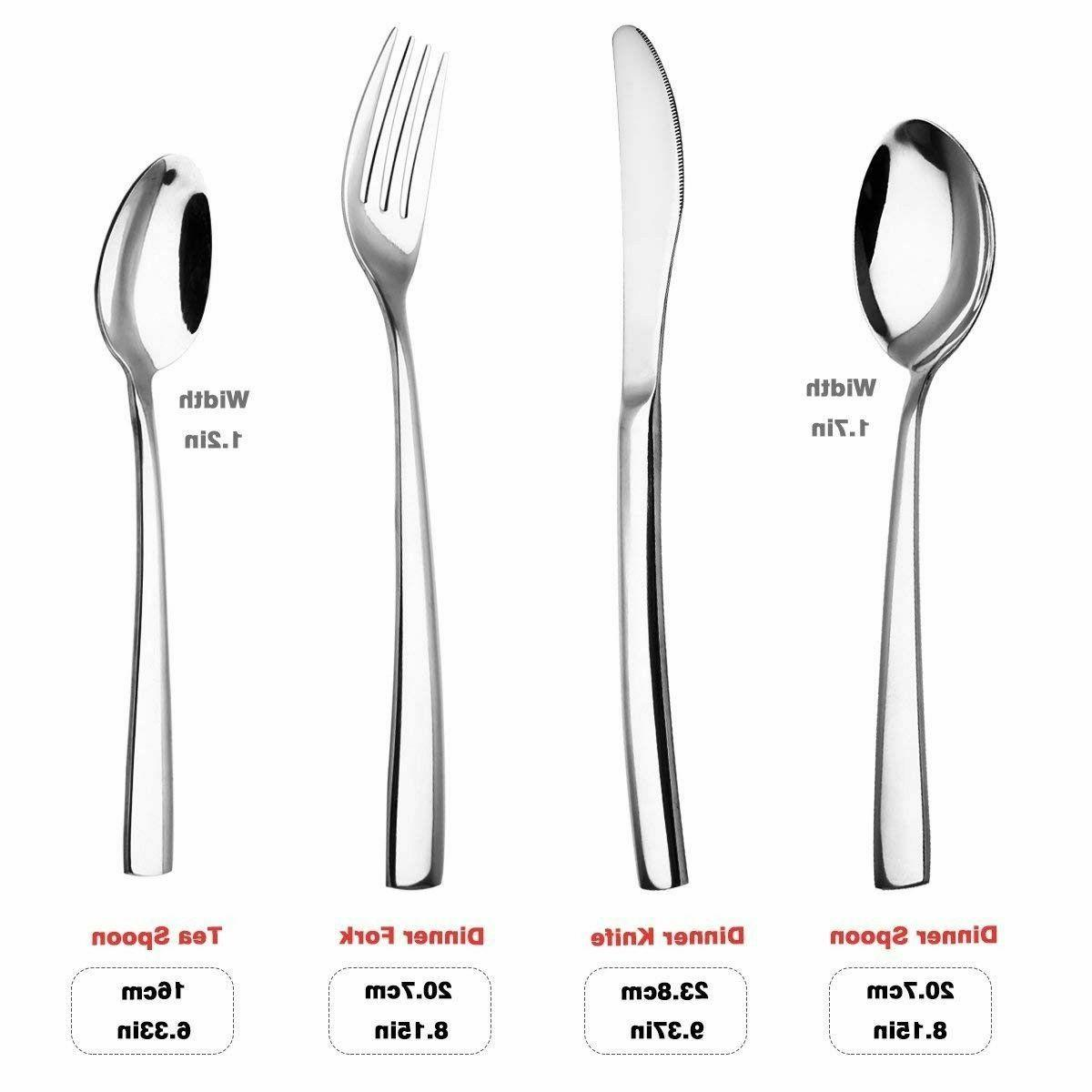 Modern Silverware Large Stainless Steel