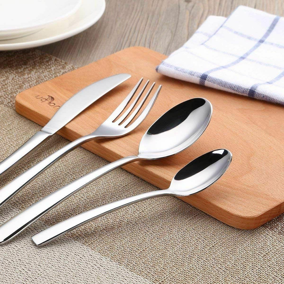 Modern Kitchen Silverware Stainless Steel 24 Piece