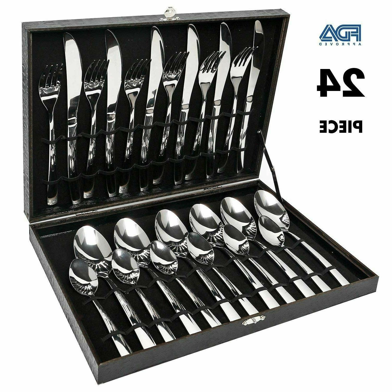 modern flatware set kitchen silverware large cutlery