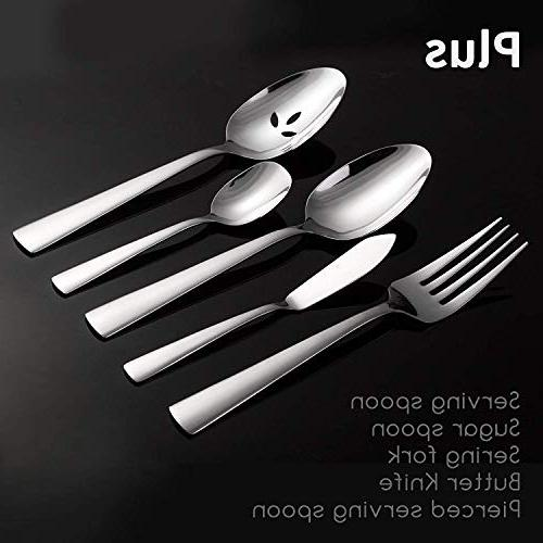Flatware Mirror Polished Silverware Set, Service