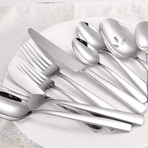 MineTom 45-Piece Flatware Silverware Safe, Service for