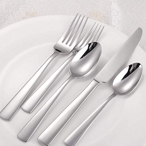 MineTom 45-Piece Flatware Set, Silverware Service