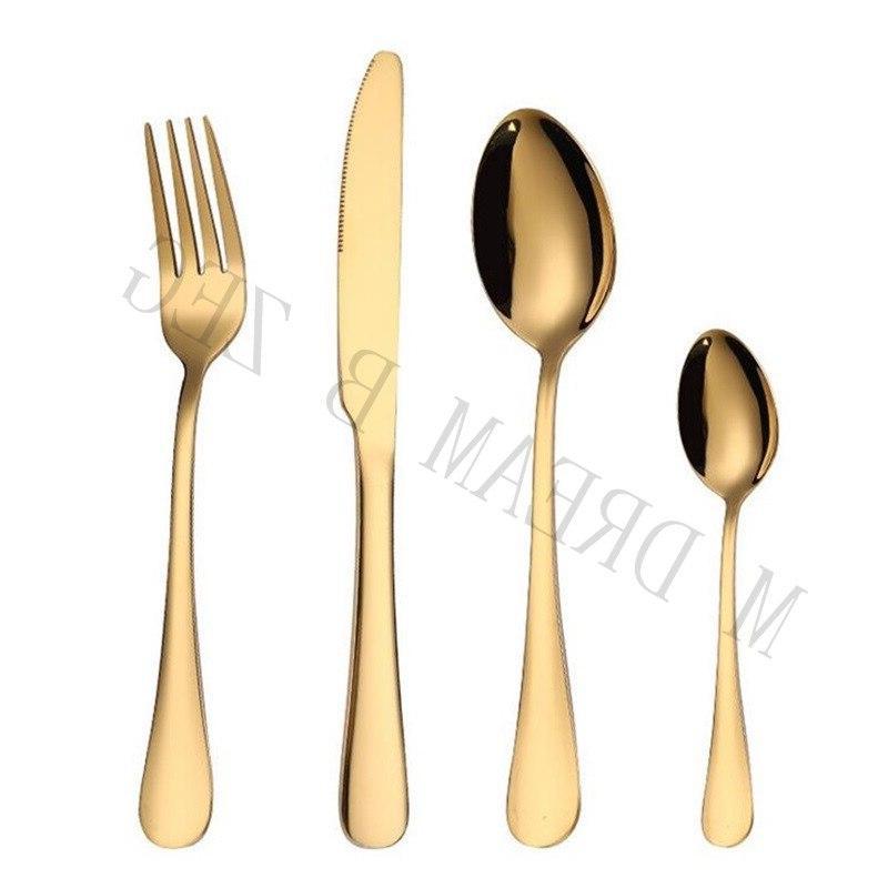 More 5pcs/set stainless food grade silverware set utensils knife