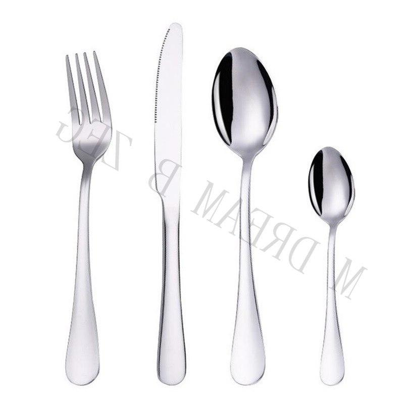 More choices 5pcs/set 4pcs/set stainless <font><b>flatware</b></font> food silverware set fork spoon