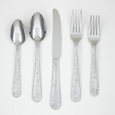 mountain flatware set sand