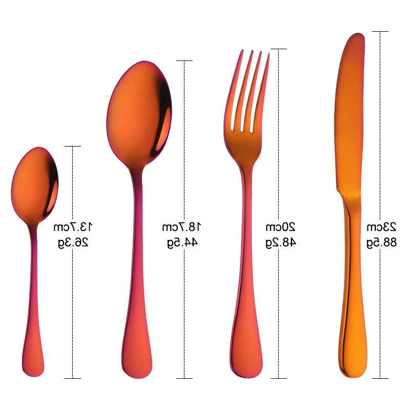 Multi Flatware 4 Piece Set