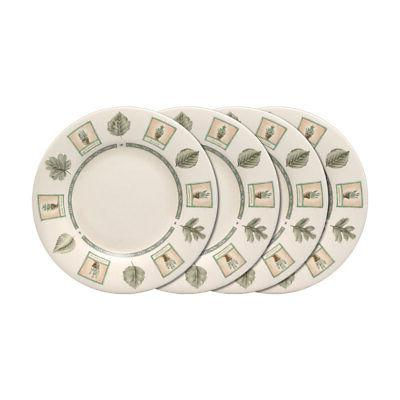 Pfaltzgraff Naturewood Set of 4 Luncheon Plates