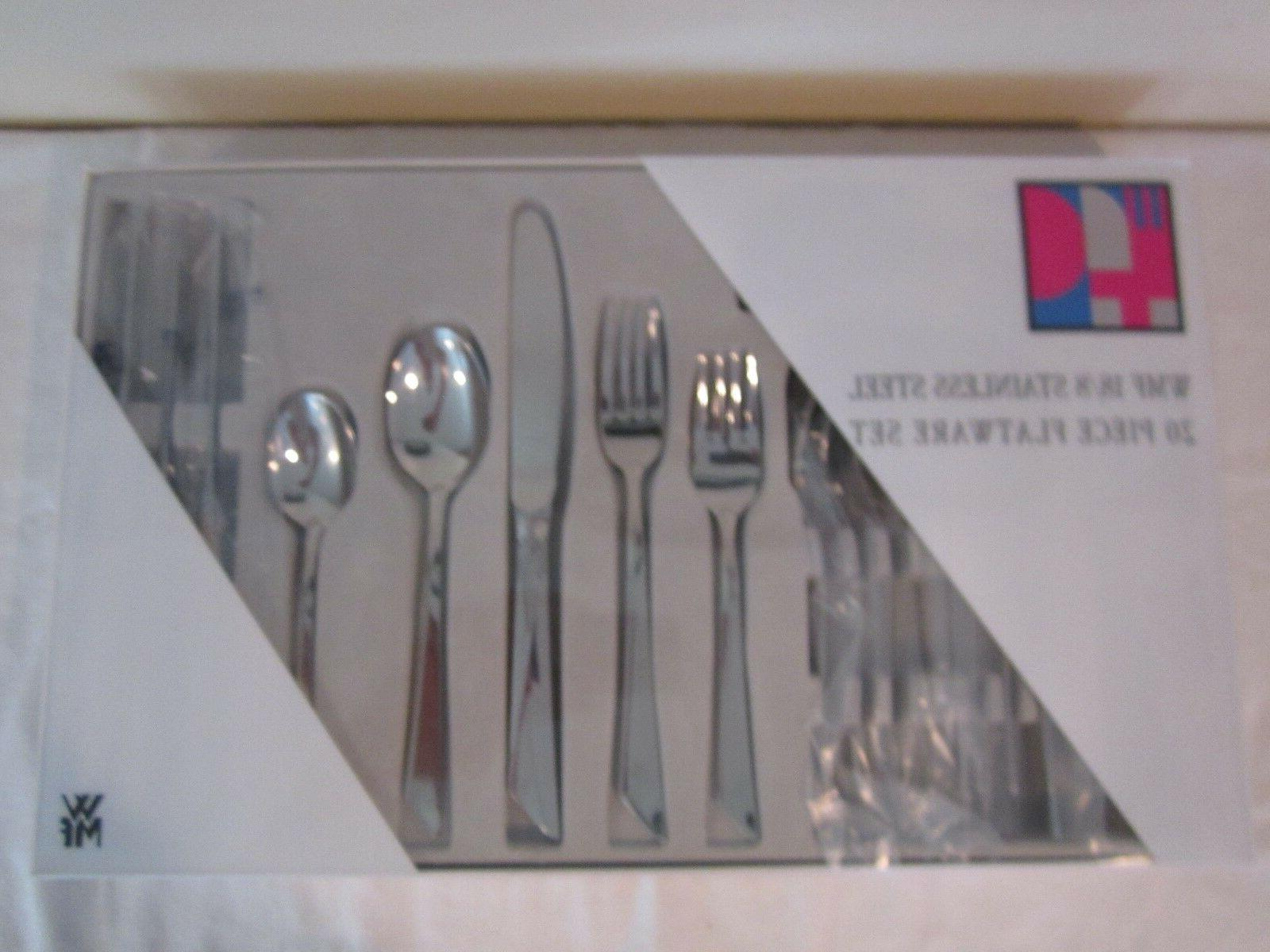 new 20 piece stainless steel flatware set