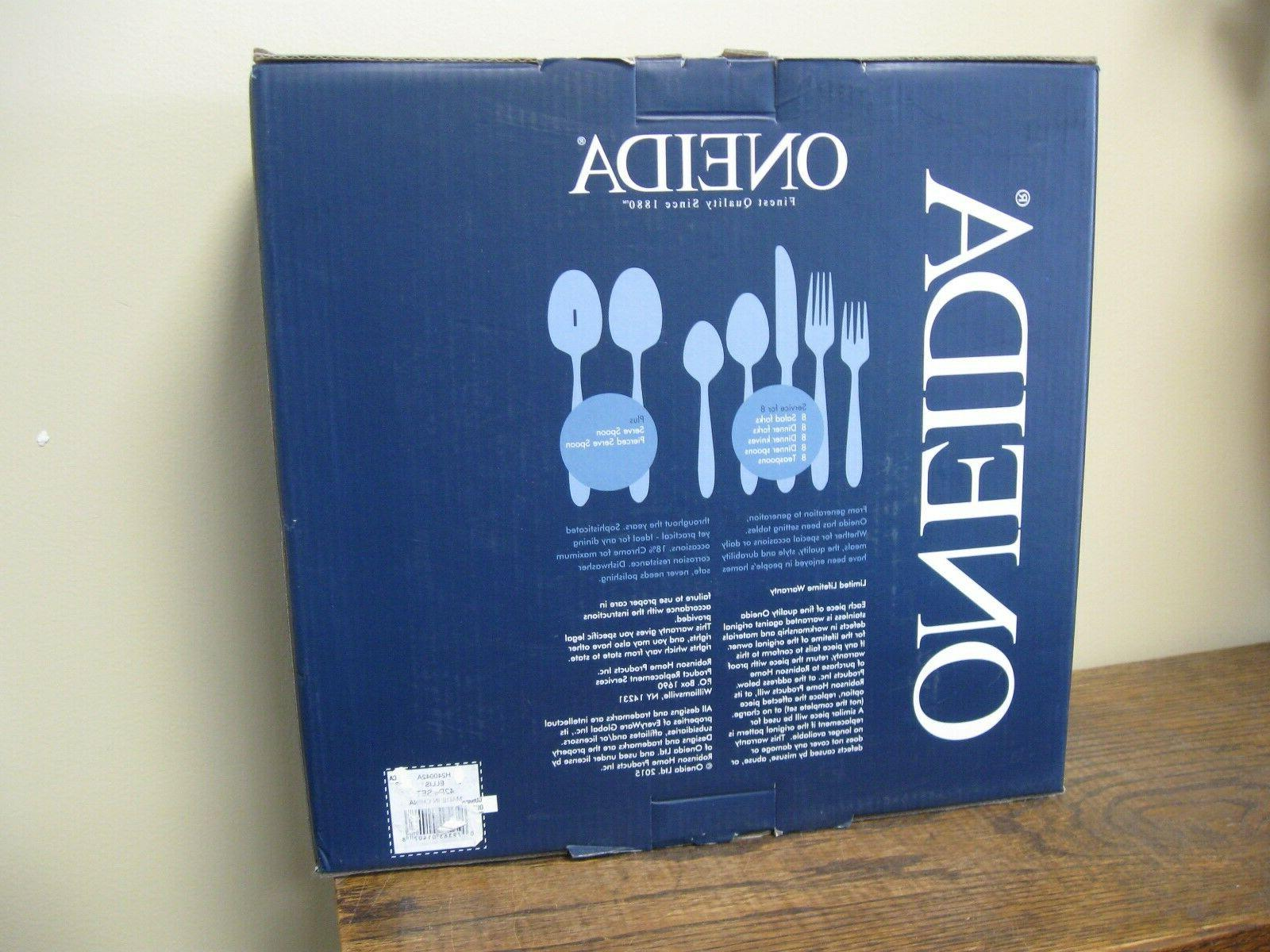 New! Oneida 42 Piece Set For Flatware