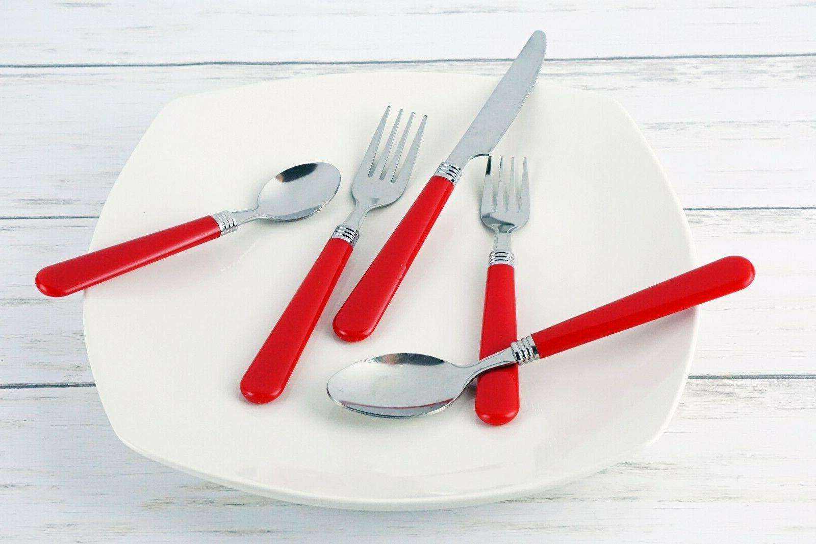 New 48pc Red Steel Fork Butter Kit