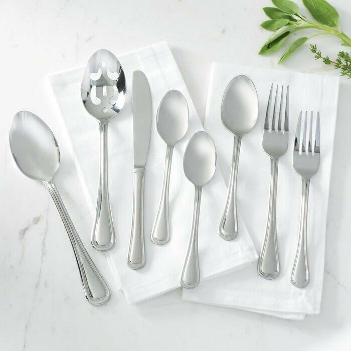 74 piece stainless steel flatware set service