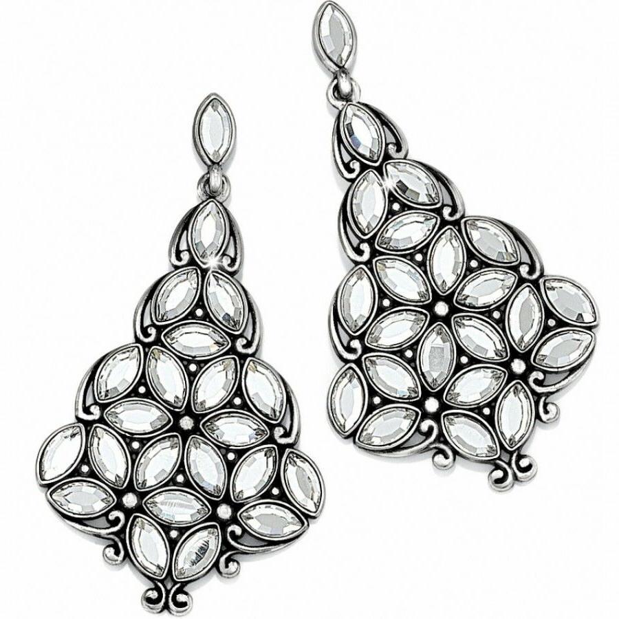 nwt maharani indira crystal post earrings msrp