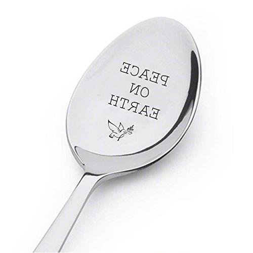 peace earth spoon holiday serving