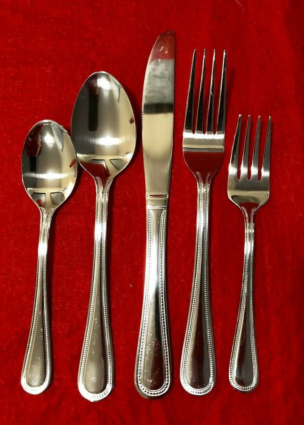 Pfaltzgraff Pearl 69 Piece Stainless Flatware Set, Service for
