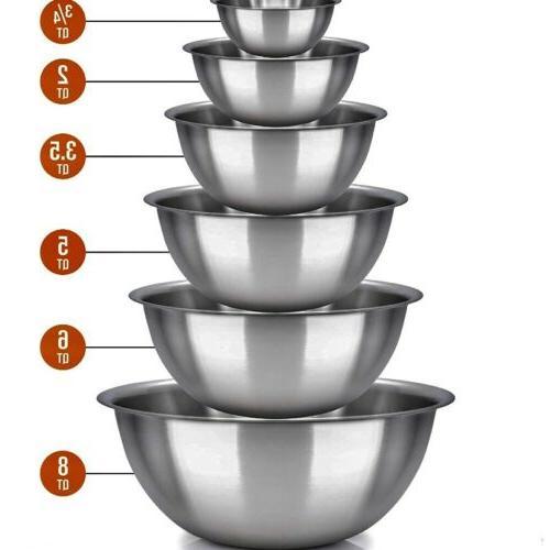 Polished bowls Easy Set of 6: 2, 8