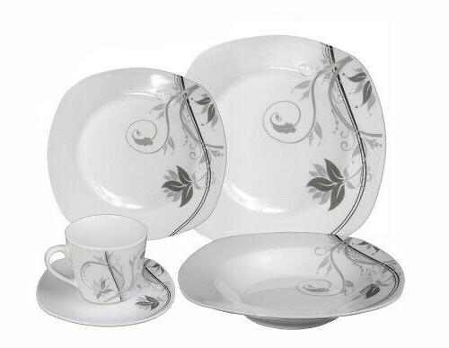 porcelain 20 piece square dinnerware set service