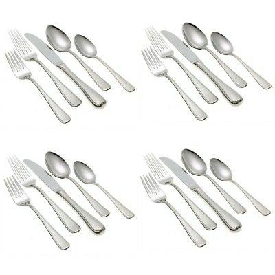ribbon edge frosted 18 10 stainless 20pc