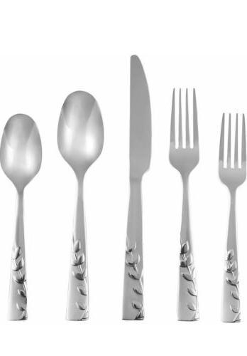 silversmiths blossom sand 20 piece flatware silverware