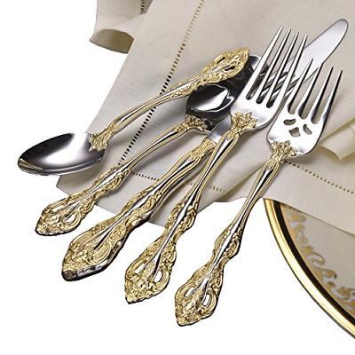 Silverware Flatware Set 5 Pcs Kitchen Dining Cutlery Bars Su