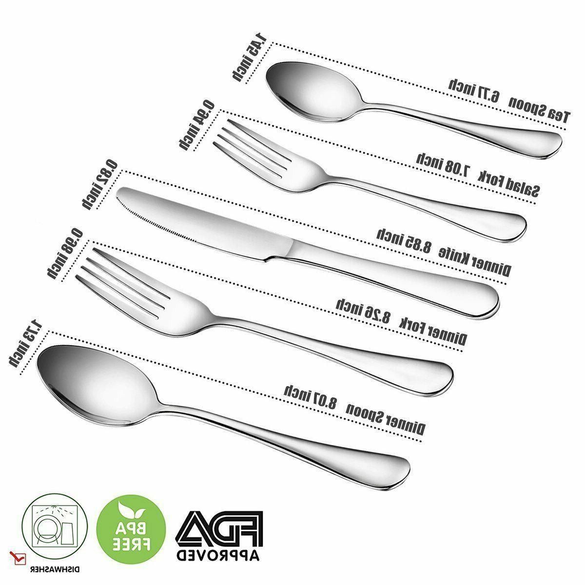 Silverware Set Dinner Forks and Spoons Dinner