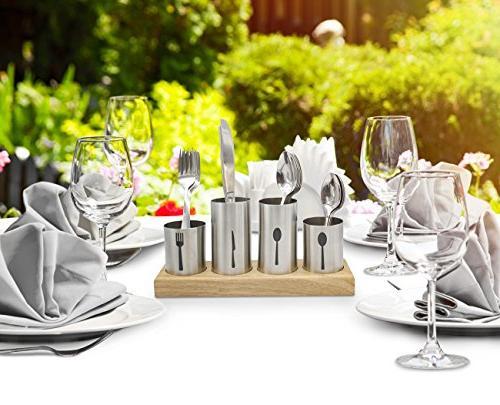 Sorbus Holder Caddy Forks, — Ideal —