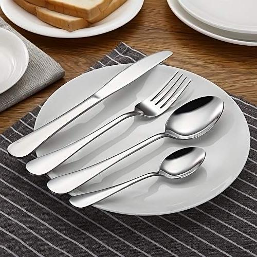 Silverware Set, Flatware Set, Stainless Eating Utensils Service 8, Dinner & Classic
