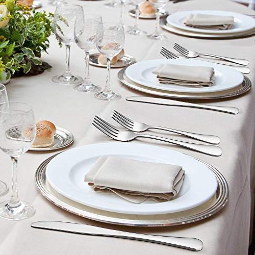 Silverware Set, Set, Stainless Eating 8, Dinner & Classic Design, Mirror Polished Dishwasher