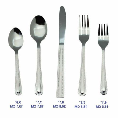 Silverware Flatware Cutlery Sets 4 Steel Knife Fork