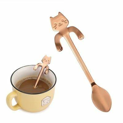 Steel Kitty Coffee Stirring Spoon Colorful
