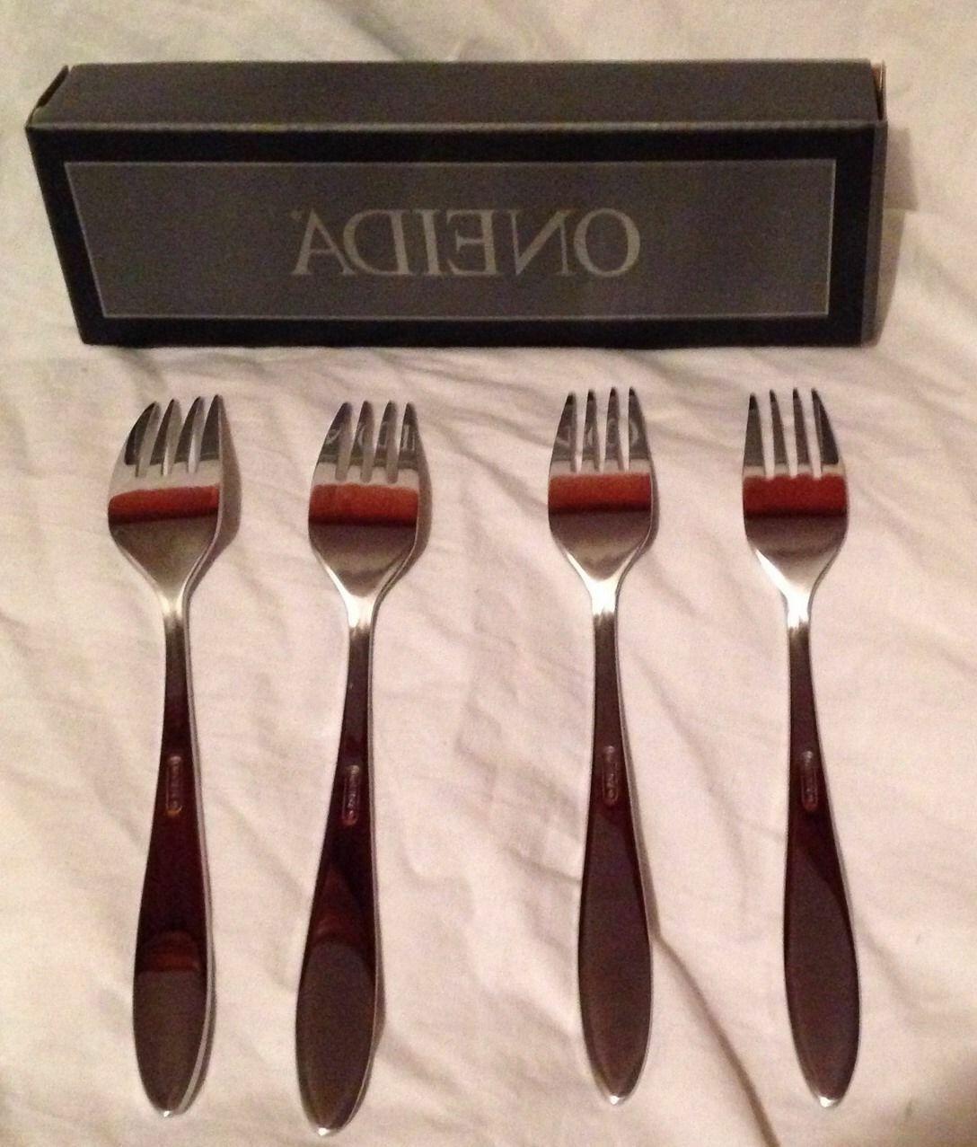 stainless flatware mooncrest dinner forks set of