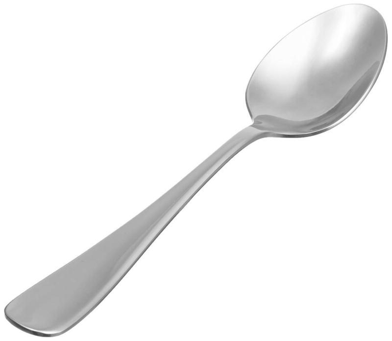 Stainless Steel Dinner Spoons With Round Edge, Pack Of 12