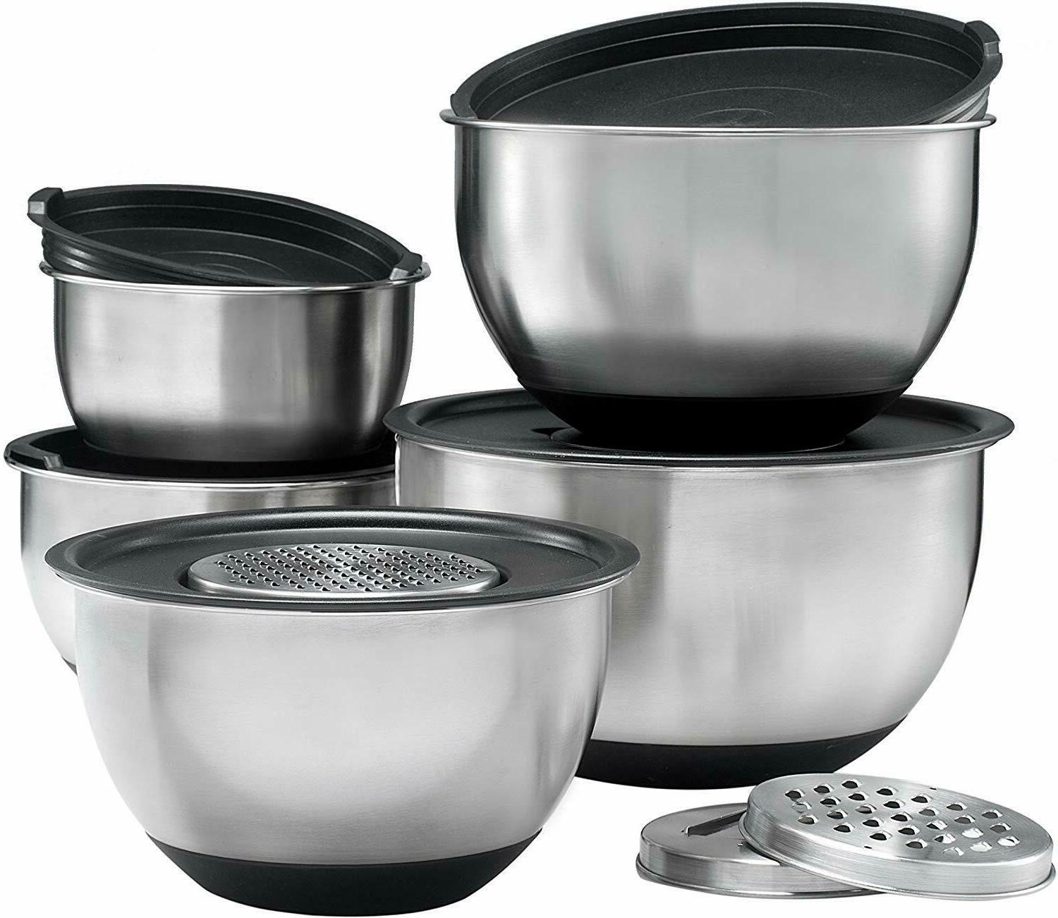 Stainless Steel Set With 3 Graters