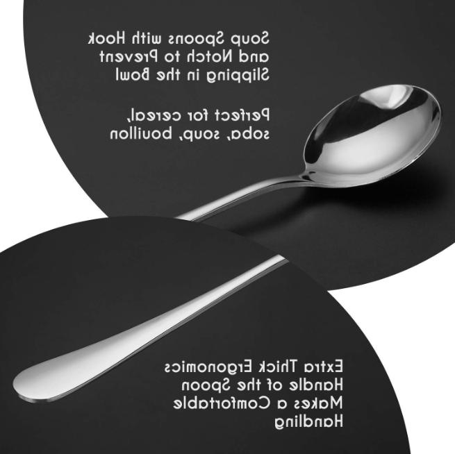 Stainless Steel High Spoon Flatware Set of 12