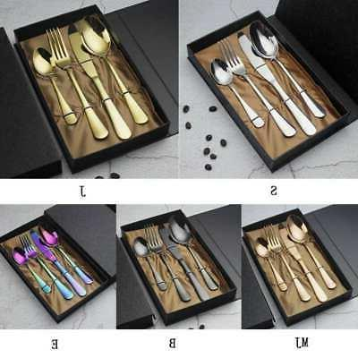 stainless western style food flatware set fork