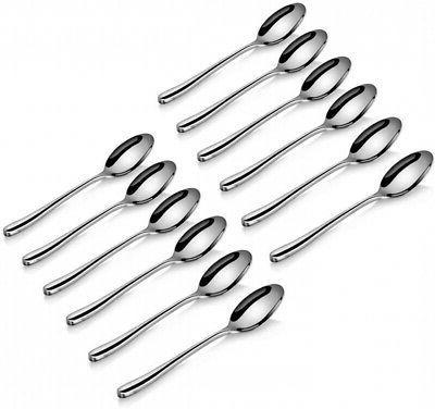 teaspoon set 12 piece forged stainless steel