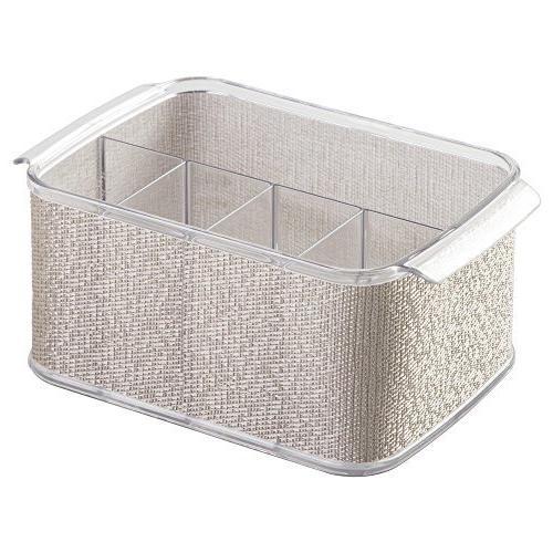 InterDesign Twillo Cutlery Caddy, Metallico/Clear